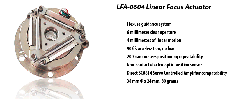 LFA-0604 Linear Focus Actuator