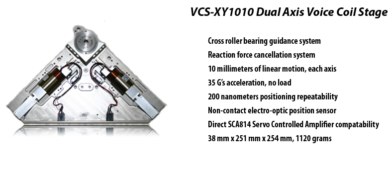 VCS-XY1010 Dual Axis Voice Coil Stage